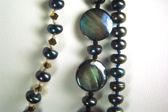 Closeup of Three Necklaces