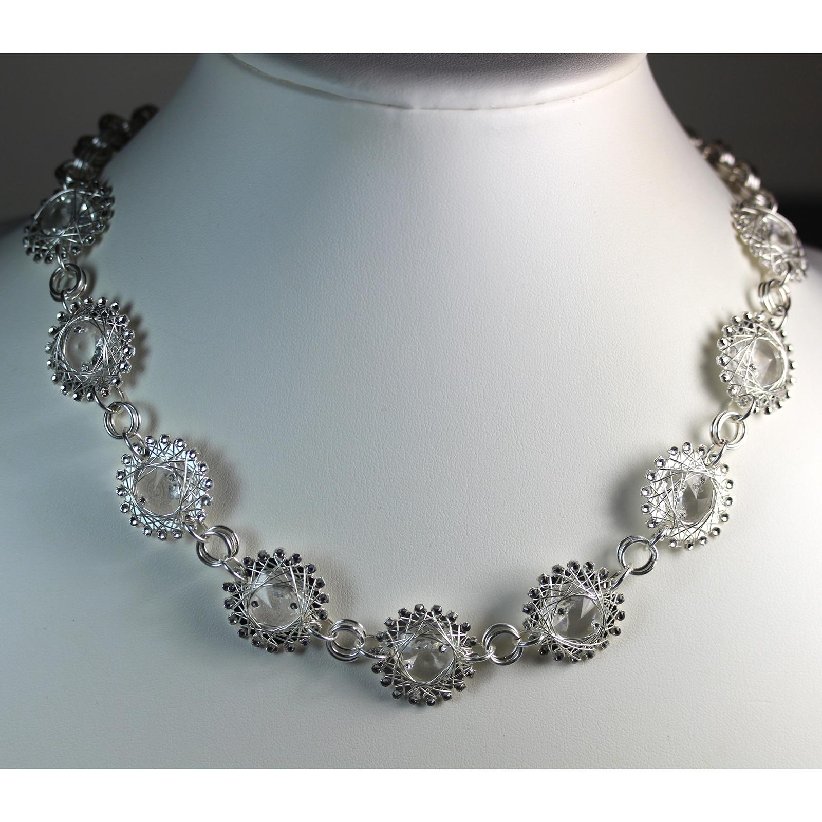 Crystal Sprocket Necklace
