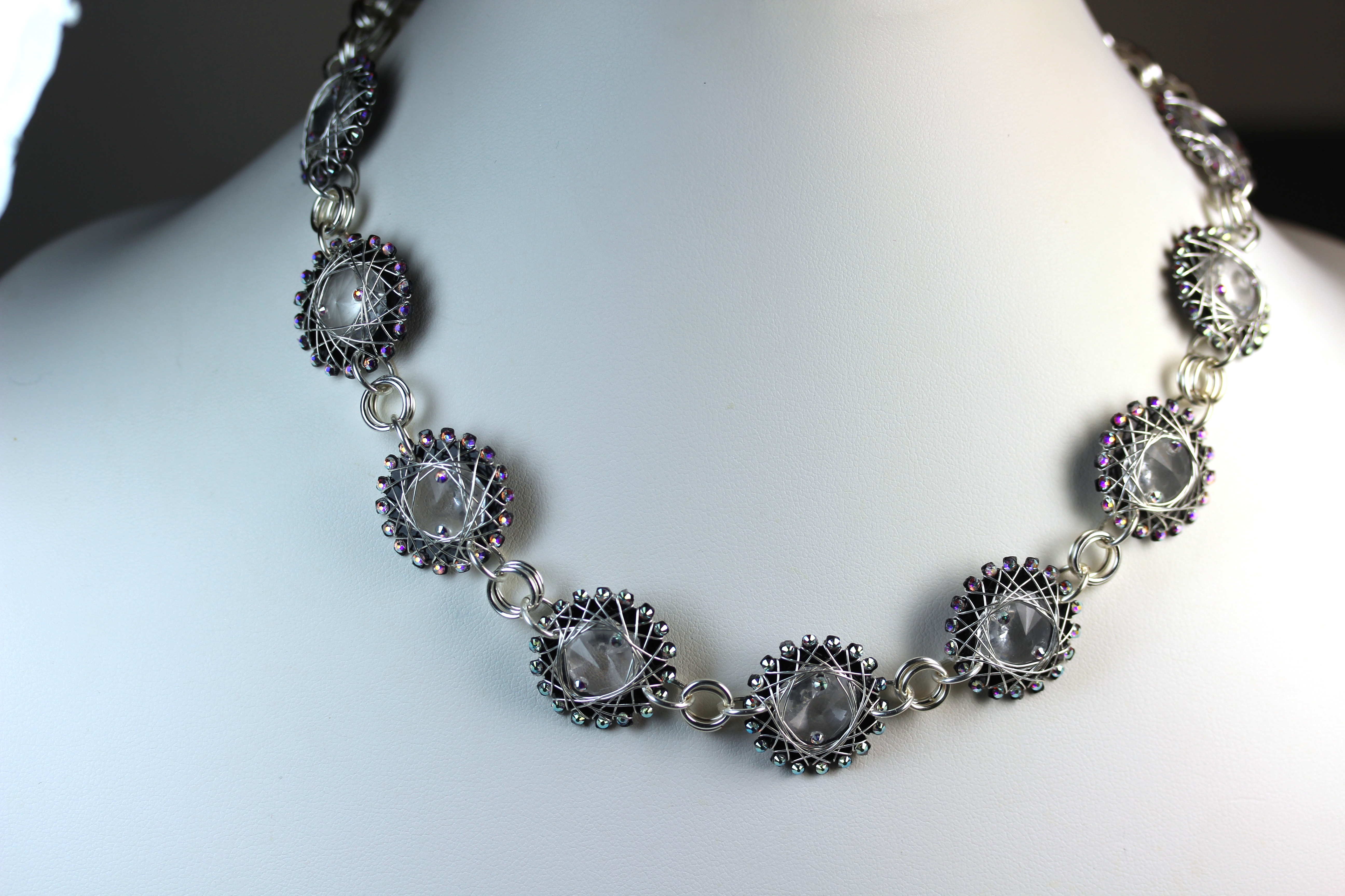 Crystal Necklace with AB Crystals
