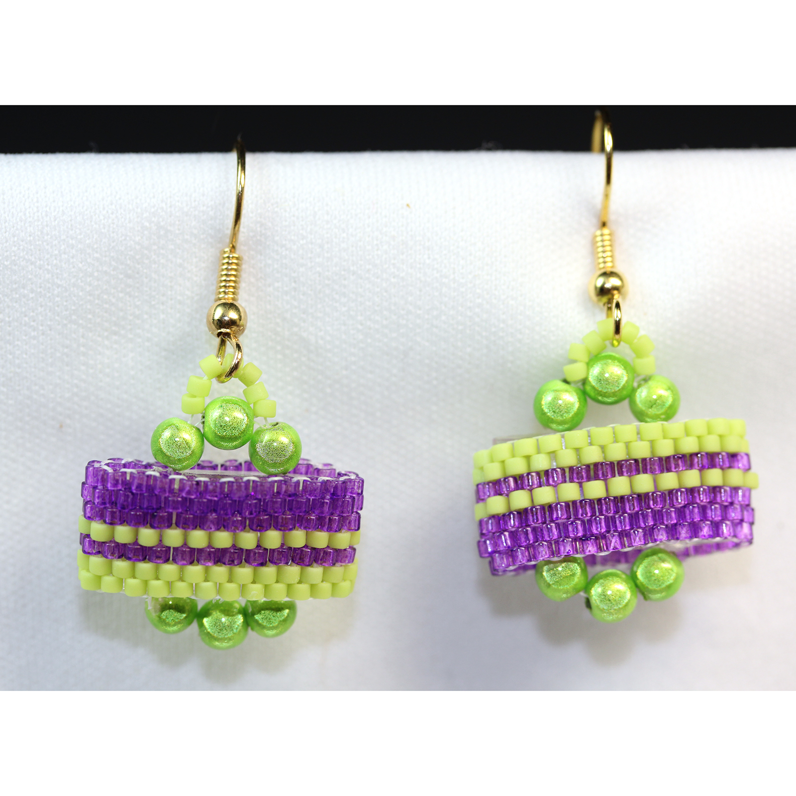 Delicas on Carrier Beads earrings