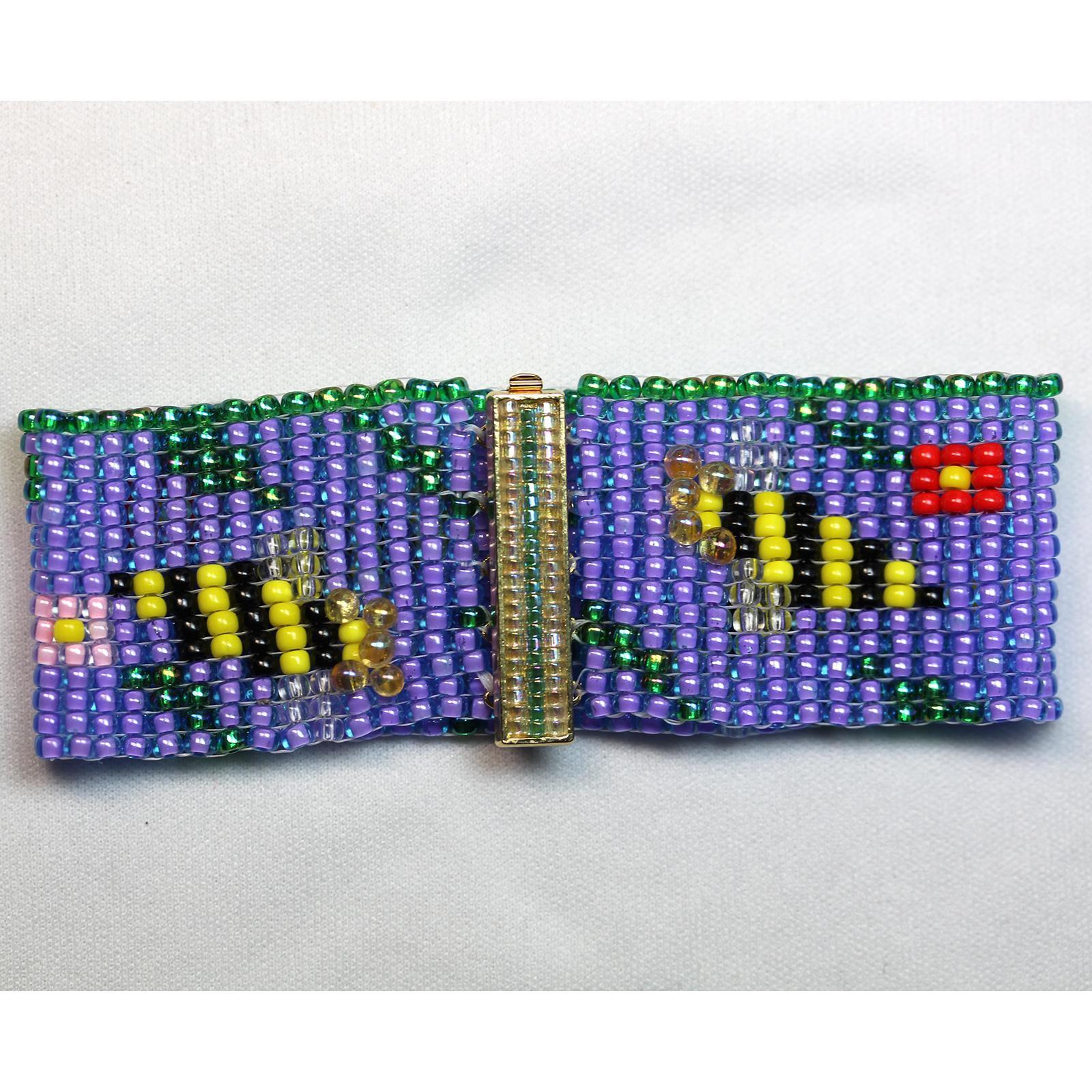 Designer Jewelry - Bees & Flower Loomed Bracelet Pattern