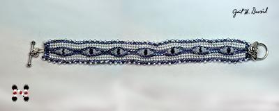 Designer Jewelry - Herringbone Bezeled Crystal Seed Bead Bracelet Pattern