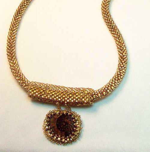 Gail Devoid Bead Crochet Creations Ammonite7