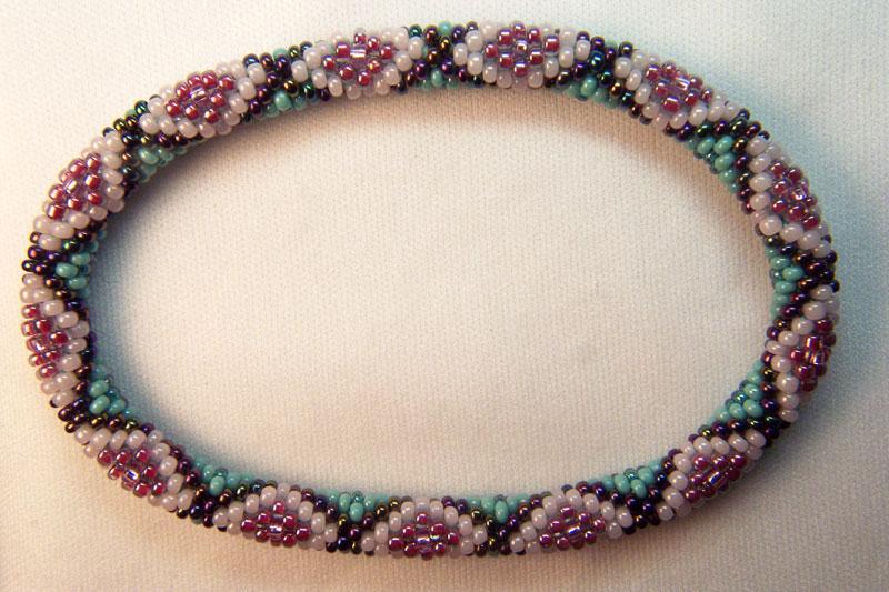 Gail Devoid Bead Crochet Creations BC-Bracelet-TurqPink2