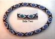 Designer Jewelry - Blue Moon Diamond Bead Crochet Bracelet
