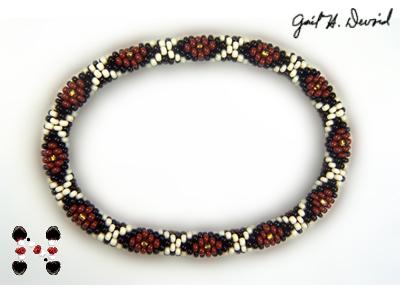 Designer Jewelry - Diamondback Rattlesnake Bead Crochet Bracelet