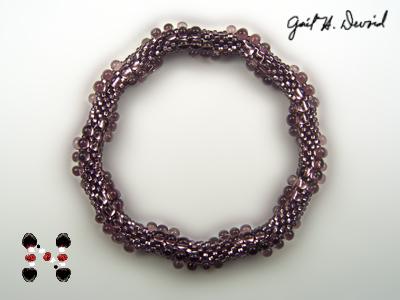 Designer Jewelry - 3-Drop Spiral Bead Crochet Bracelet
