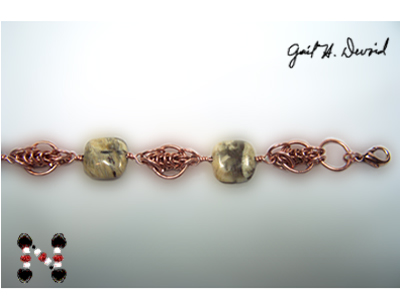 Designer Jewelry- Copper Chain Maille Bracelet