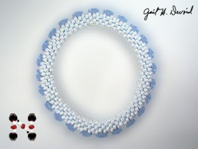 Designer Jewelry - Karner Blue Butterfly Bead Crochet Bracelet