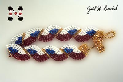 Designer Jewelry - Wavy Flag Bracelet - Czechoslovakia