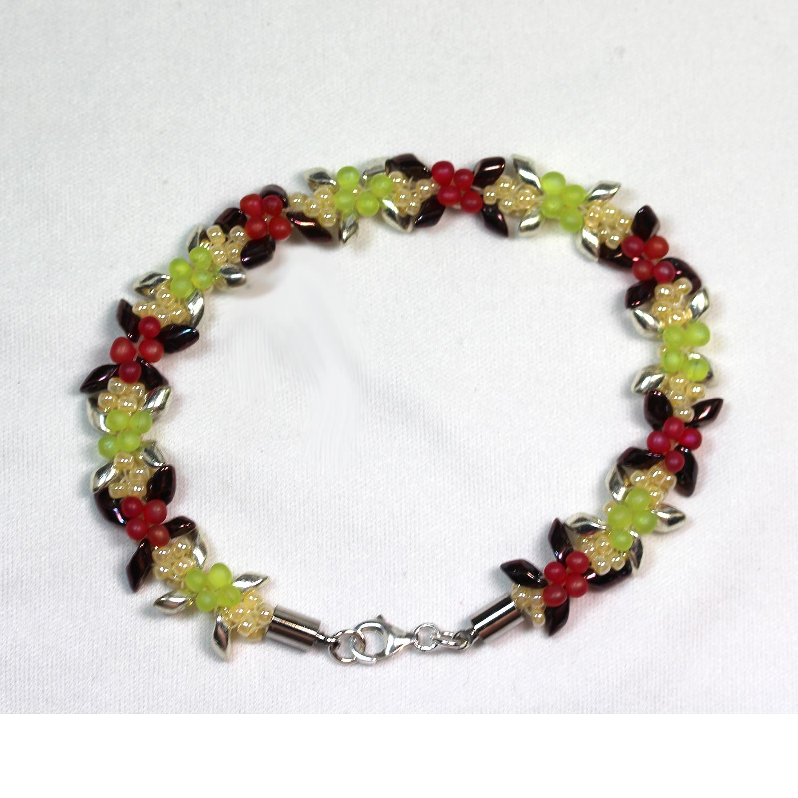 Holiday Bracelet - Kumihimo