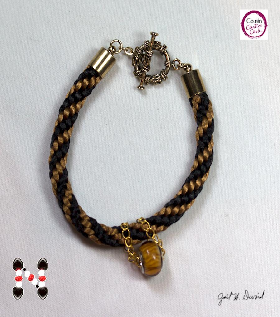 Designer Jewelry - Kumihimo Autumn Bracelet