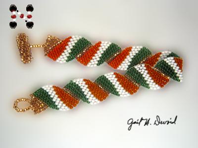 Designer Jewelry-Wavy Flag Bracelet-Italy