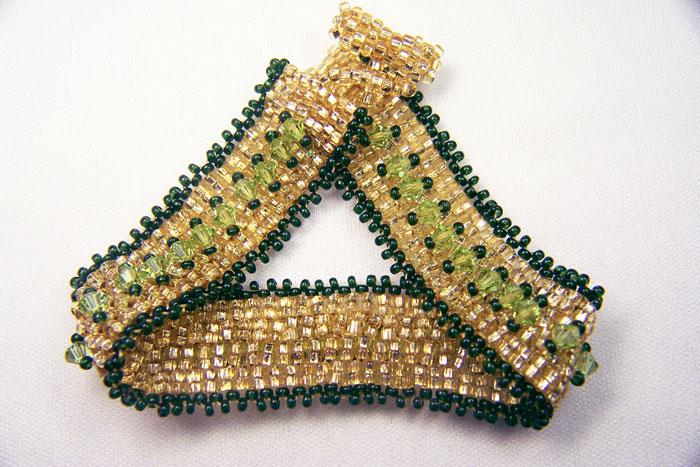 Beading Arts: Peyote spiral ring bracelet
