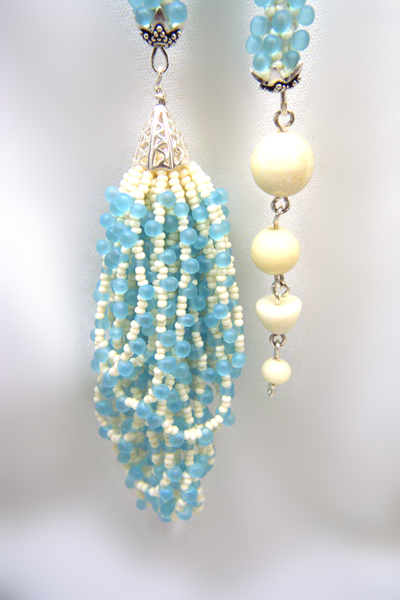 Designer Jewelry - Close up of tassel and dangle