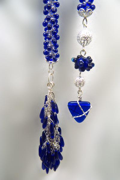 Designer Jewelry - Close up of tassel and dangle
