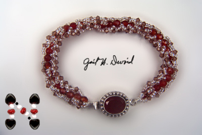 Designer Jewelry - This Way and That Bracelet Pattern