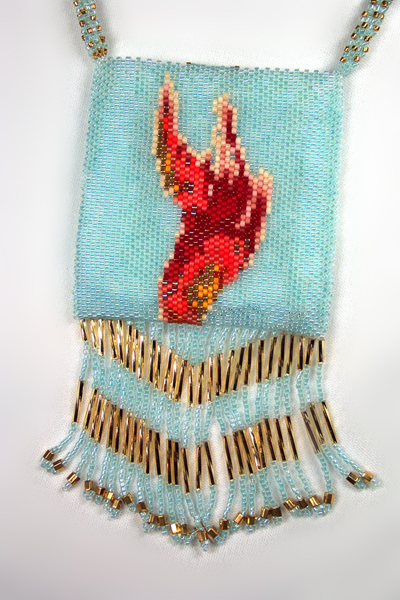 Designer Jewelry - Gail Devoid Wizard & Fire Amulet Bag