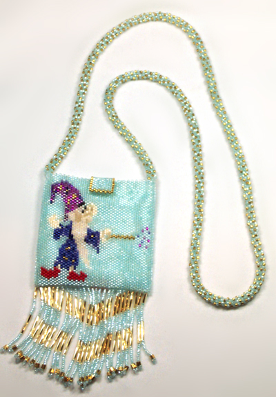 Designer Jewelry - Wizard & Fire Amulet Bag
