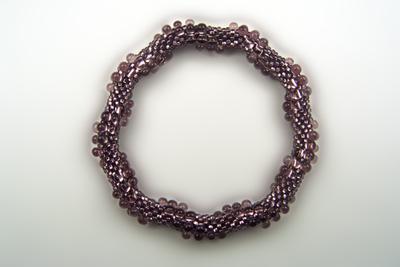 Designer Jewelry - 3-Drop Spiral Bead Crochet Bracelet Pattern