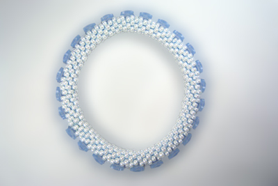 Designer Jewelry - Karner Blue Butterfly Bead Crochet Bracelet Pattern
