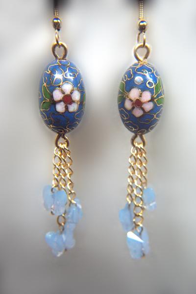Designer Jewelry - Koerner Blue Butterfly Earrings Pattern