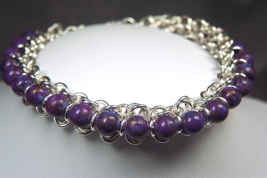 Designer Jewelry-Princess Chain Maille Bracelet Pattern