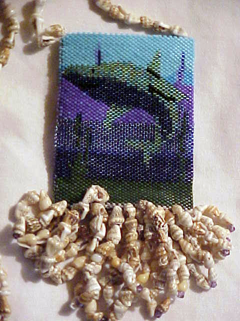Sharks' Ocean Amulet Bag.