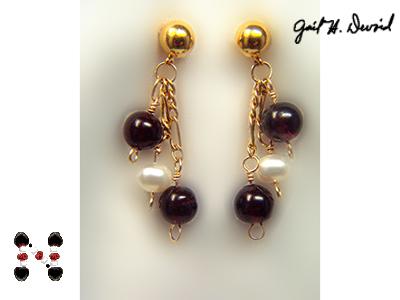 Garnet Earrnings