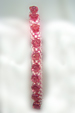 Designer Jewelry - Pink and White Bracelet and how it looks worn