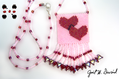 Designer Jewelry - Hearts Amulet Bag