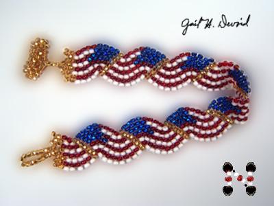Designer Jewelry - Wavy Flag-USA Bracelet Pattern