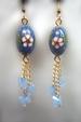 Karner Blue Butterfly Earrings with Fine Austrian Crystals