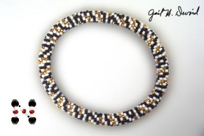 Designer Jewelry - Tweed Bead Crochet Bracelet Pattern