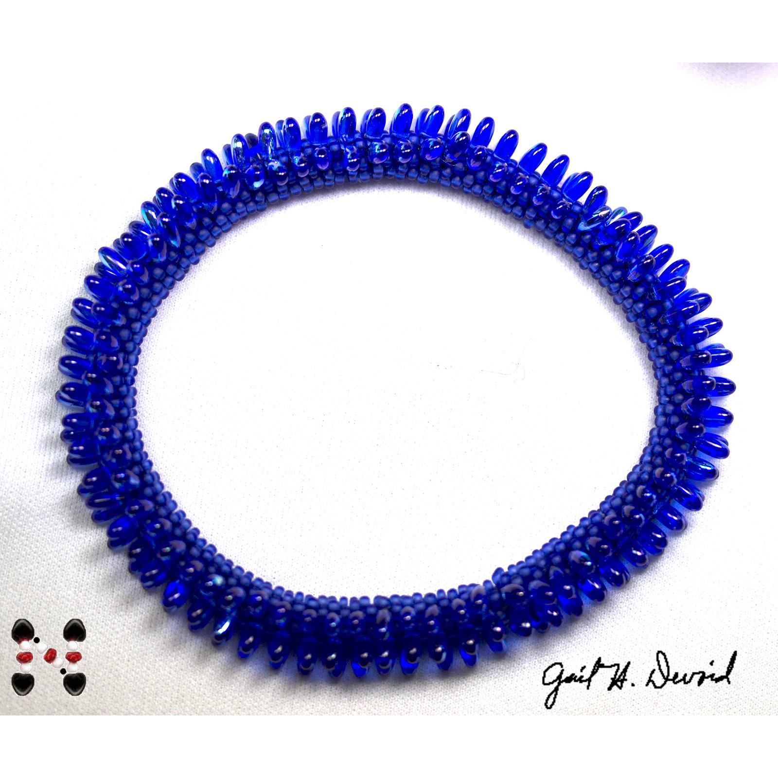 Designer Jewelry - 3 Rizo Bead Crochet Bracelet
